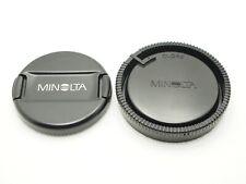 Minolta Genuine Front Lens Cap Alpha AF LF-1155 55mm Rear Lens Cap LR-1000 1pair