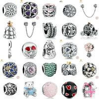 European 925 Charms dangle Sterling Xmas Beads Pendant For DIY Bracelets Jewelry