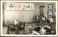 1939 GAP, AZ PHOTO POSTCARD  Gap Trading Post Restaurant Interior