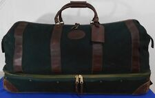 """ORVIS Battenkill Rolling Magnum Duffle Case X-Large 35"""" Bag Canvas & Leather"""