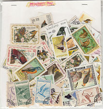 """""""BIRD"""" Theme wise CTO stamps pack of 100 Different ~~ Rare Theme"""