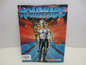 Vintage Roadwars Floppy Game for Commodore 64/128 - Box & Manual