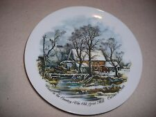 Currier & Ives WINTER IN THE COUNTRY-AMERICAN HOMESTEAD  GRIST MILL  Plate