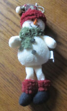 Holiday Christmas Tree Ornament Plush Country Lace Pigeon Falls WI Snowman 10""