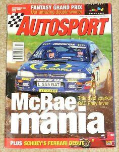 Autosport 23/11/95* RAC RALLY - 1995 F3000 REVIEW - MACAU GP - MARC HYNES POSTER