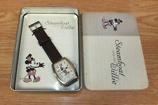 Genuine Disney Steamboat Willie Women's Watch in Collectible Tin **READ**