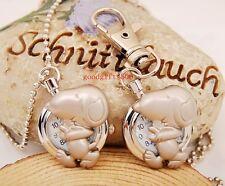 New Cute Cartoon Dog Boys girls lady Children Key Ring Necklace watch gift DK15