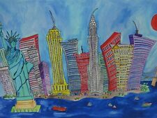 New York City Modern Landscape Art Painting Signed Limited Edition Print Sullins