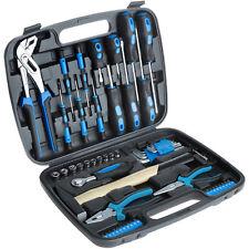 57 tlg Werkzeugkoffer mit Werkzeug Set Hammer Schraubendreher Werkzeugkasten
