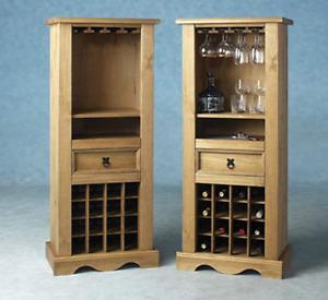 Wooden Wine Rack Decor Furniture Traditional Mini Bar Home Bottle Storage Holder