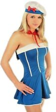 Womens Blue Sailor Fancy Dress Costume UK Size 8-12 Hen Night Party