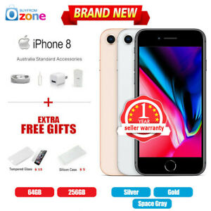 New Factory Unlocked APPLE iPhone 8 64GB 256GB 12Mths Wty Multi Colours