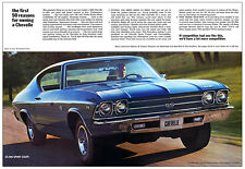 1969 Chevrolet Chevelle SS 396 454 Poster 13x19 Chevy Garage Brochure Ad Art BIG