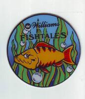 Williams FISH TALES Original 1992 NOS Pinball Machine Promo Plastic Coaster #1