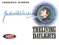 "James Bond Heroes & Villains - A154 Frederick Warder ""004"" Auto / Autograph Card"