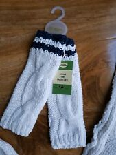 JOULES Boys/Girls CHUNKY KNITTED COTTON IVORY GLOVES. BRAND NEW. ONE SIZE
