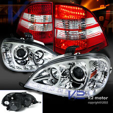 98-01 Benz W163 ML Class Chrome Projector Headlights+LED DRL+LED Tail Lamps