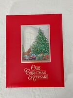 Vintage OUR CHRISTMAS KEEPSAKE Hallmark Book Of Memories Photos Songs 1987