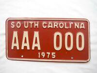 1975 South Carolina License Plate Tag