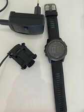 Garmin Fenix 3 HR Sapphire Sports Watch w/ Black Silicone Wristband