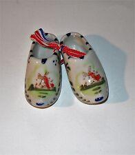 Ornamental Ceramic Mini Clogs Holland Windmill Handpainted
