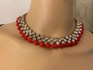 Women  Bollywood Ethnic Gold Plated Red Pearl Necklace Set Party wear Jewelry