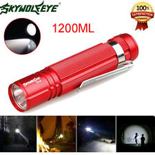 1200LM Waterproof Cree Q5 LED 14500 Zoomable Lamp Sky Wolf Eye Mini Flashlight