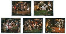 Lot de 5 x Classic Chien Snooker / Pool imprime par Arthur Sarnoff