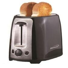 Brentwood 2 Slice Cool Touch Toaster: Black And Stainless Steel - 800 W - Toast,