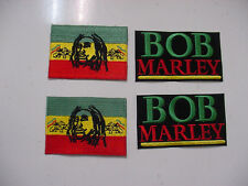 "lot  of 4 BOB MARLEY EMBROIDERED  -IRON ON/ SEW ON  PATCH-new -3"" and 3.25"""