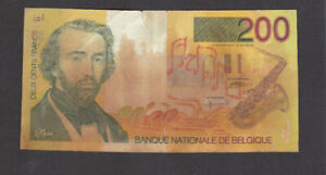 200 FRANCS VG BANKNOTE FROM BELGIUM 1995-2001 PICK-148
