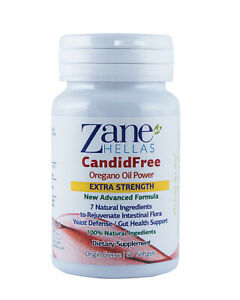 CandidFree by ZANE HELLAS-Extra Strength Candida Cleanse&Detox.60 Softgels