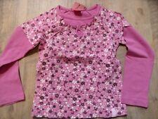 S.OLIVER schönes Langarmshirt Lagenlook Millefleur pink Gr. 104/110 NEU ST817