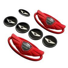 Set 7PC Car Emblems Badges  For 2010-2015 Hyundai GENESIS COUPE Color Red