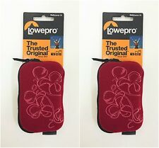 pack of 2 Lowepro Melbourne Pouch, Red Floral (LP36063) - camera/earphone case