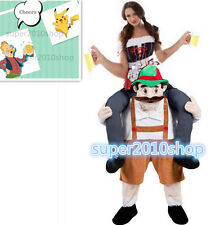 Halloween Carry Me Bavarian Beer Guy Mascot Costumes  Fancy Dress Adult Unisex