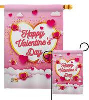 Flying Heart Valentine'S Valentines Happy Day Love Sweet Garden House Yard Flag