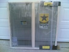 "Brand New: Nice Tan-Color Vinyl Home Semi-Slider Window 45""x45"""