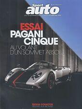 SPORT AUTO n°573 10/2009 PAGANI CINQUE LAMBORGHINI GALLARDO LP 560-4