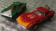 Scalextric Chevrolet Corvette rojo Ref.4050 + LANCIA STRATOS verde Ref.4055