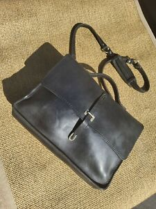 Billykirk Schoolboy Messenger Style #236 Black Bag Briefcase New