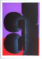"Ladislas KIJNO - ""Omaggio a Fellini"", 1976 - Litografia, 50 x 70 cm"