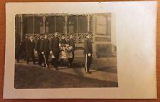 1907 FIREMAN'S FUNERAL Casket Procession FIREFIGHTERS PALLBEARERS DRESS UNIFORMS