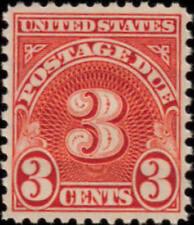 1931 3c Postage Due, Scarlet Scott J82 Mint F/VF NH