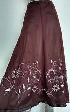 COAST embellished mesh evening skirt size 10 --BRAND NEW-- below knee lined
