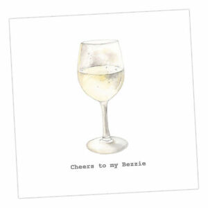 """Crumble and Core  GREETINGS CARD    """"Cheers to my Bezzie"""""""