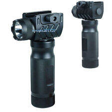 Tactical Foregrip Vertical Grip High Power CREE LED Flashlight Rail Mount 67