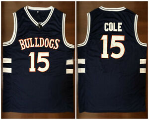 Throwback Jermaine Cole #15 Bulldogs High School Basketball Jerseys J.Cole Shirt