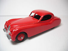 VINTAGE MECANNO DINKY TOYS #157 JAGUAR XK 120 RED SALOON RESTORED TO NEAR MINT B
