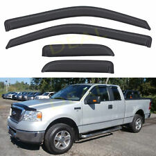 4pcs Sun Rain Guard Window Visors Fit 04-14 F150 Super Cab w/Half Size Rear Door